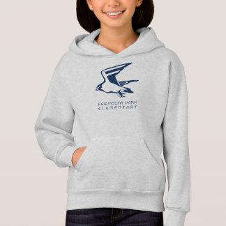 女の子の《鳥》ハヤブサのフード付きスウェットシャツ