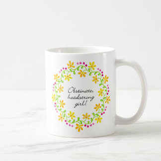 女の子のAustenの頑強で頑固なプライド及び偏見 コーヒーマグカップ