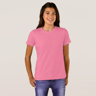 女の子のBella+キャンバスの乗組員のTシャツ Tシャツ