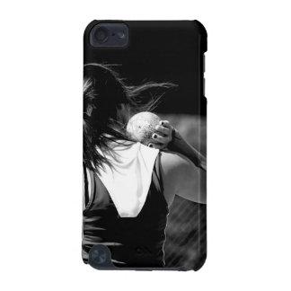 女の子のShotputの投げる人 iPod Touch 5G ケース