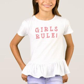 女の子のTシャツの女の子の規則! Tシャツ