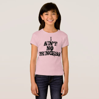 女の子のTシャツ私は王女ではないです Tシャツ