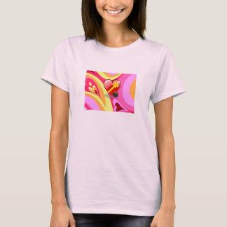 女の子のTシャツ(汗ハート) Tシャツ