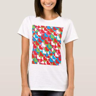 女の子のTシャツ(沢山のハート) Tシャツ