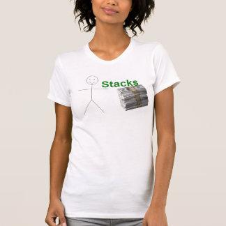 女の子のtanktopを積み重ねます tシャツ