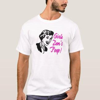 女の子はウンチのピンクのTシャツ- S M L XL 1X 2X 3X Tシャツ