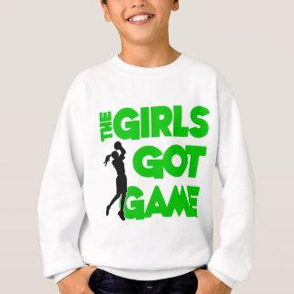 女の子はゲーム、緑を得ました スウェットシャツ