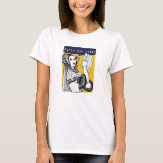 女の子はコードすることができます! Tシャツ