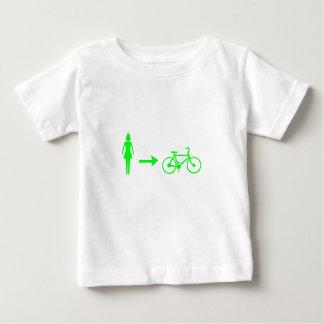 女の子はバイクのロゴのTシャツに会います ベビーTシャツ