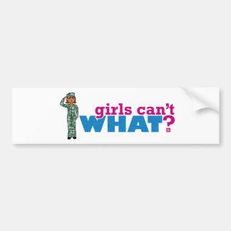 女の子は何できませんか。 私がカスタム設計するColorize バンパーステッカー