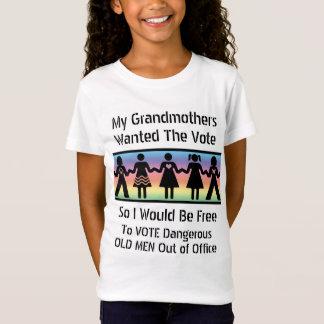女の子は投票します Tシャツ