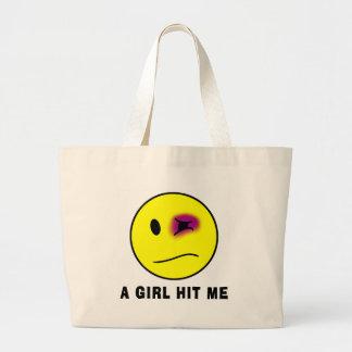 女の子は私に当りました ラージトートバッグ