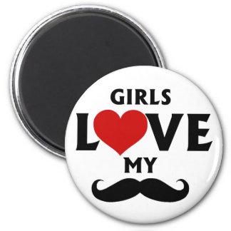 女の子は私の髭を愛します マグネット