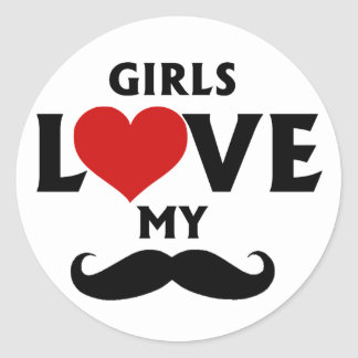 女の子は私の髭を愛します ラウンドシール