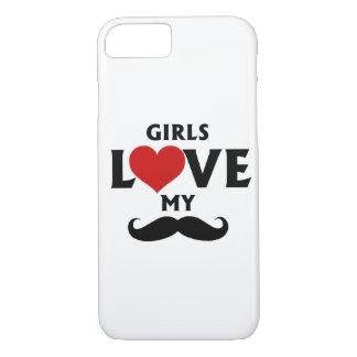 女の子は私の髭を愛します iPhone 8/7ケース