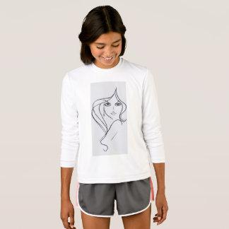 女の子は粋のスタイルを作り、畏せます Tシャツ