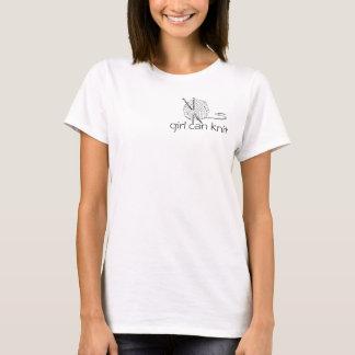 女の子は編むことができます Tシャツ
