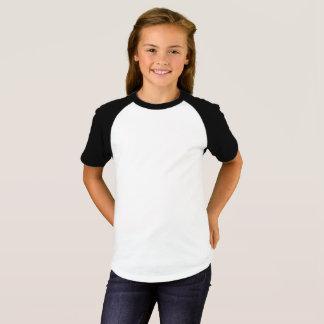 女の子は袖のRaglanのTシャツをショートさせます Tシャツ