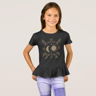 女の子は、精神的なワイシャツの設計日に晒し、うろつきます Tシャツ