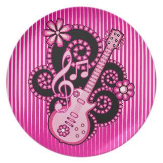 女の子らしいギター プレート