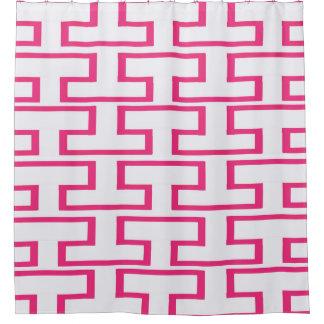 女の子らしいショッキングピンクの煉瓦 シャワーカーテン