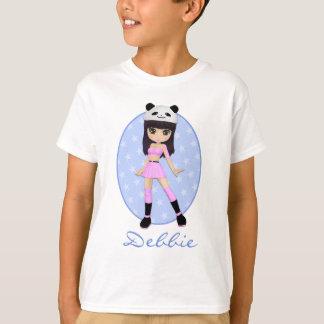 女の子らしい女の子のデビーのパーティーのTシャツ Tシャツ