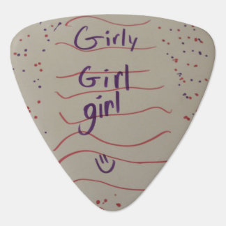 女の子らしい女の子の女の子Gタールの一突き ギターピック