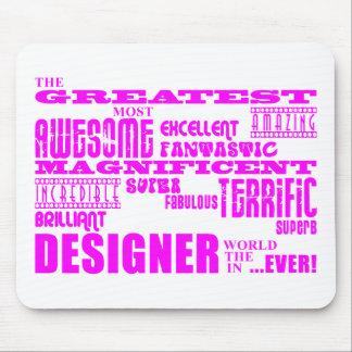 女の子デザイナー誕生日: ピンクのすばらしいデザイナー マウスパッド