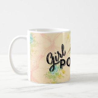 女の子力のヴィンテージの壁紙のマグ コーヒーマグカップ