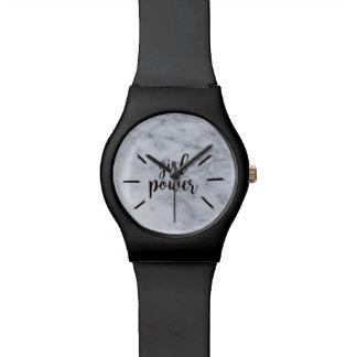 女の子力の大理石 腕時計