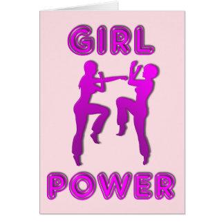 女の子力の武道の女性挨拶状 グリーティングカード