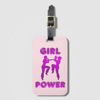 女の子力の武道の女性荷物のラベル ラゲッジタグ