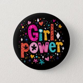 女の子力の花ボタン|の小型兄弟 5.7CM 丸型バッジ