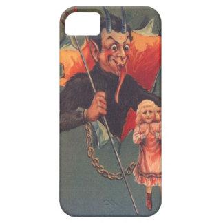 女の子及び干し草用フォークとのKrampus iPhone 5 Case