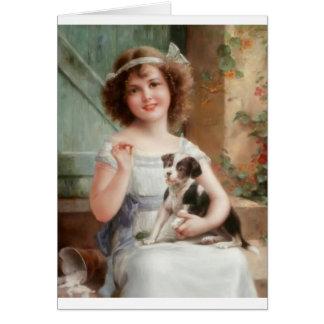 女の子及び彼女の有害な子犬、 カード