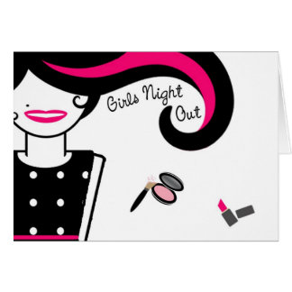 女の子夜バチェロレッテの招待Notecards カード