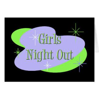 女の子夜招待 カード