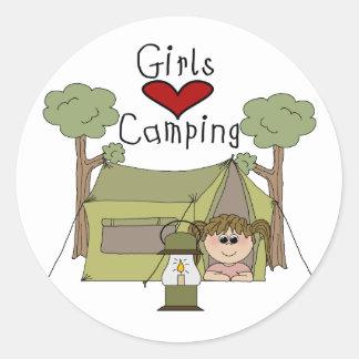 女の子愛キャンプ ラウンドシール