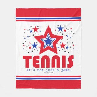 女の子愛国心が強い米国の星のテニス フリースブランケット