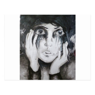 女の子泣 ポストカード