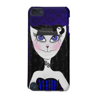 女の子猫のipod touchの紫色の箱 iPod touch 5G ケース