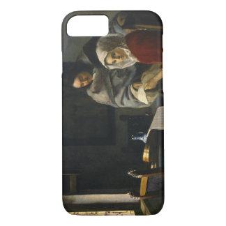 女の子1月Vermeer -彼女の音楽で中断する iPhone 8/7ケース