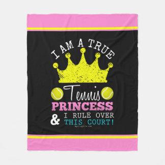 女の子: この裁判所上のテニスのプリンセスの規則 フリースブランケット