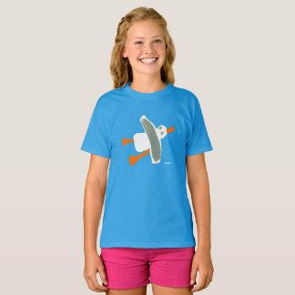 女の子-ジョンのダイアーのカモメのTシャツ Tシャツ