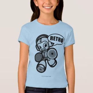 女の子-スピーカーの馬蝿の幼虫-ワイシャツ Tシャツ