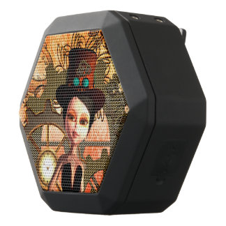 女の子、時計およびgiersのSteampunk ブラックBluetoothスピーカー