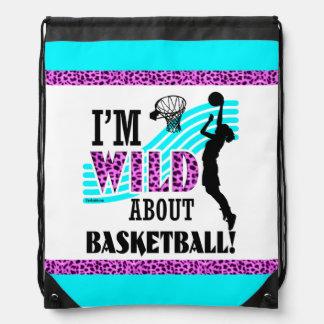 女の子: 私はバスケットボールについて野生です ナップサック