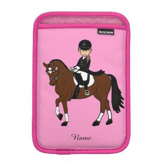 女の子- I愛馬-のためのギフト馬場馬術のライダー iPad MINIスリーブ