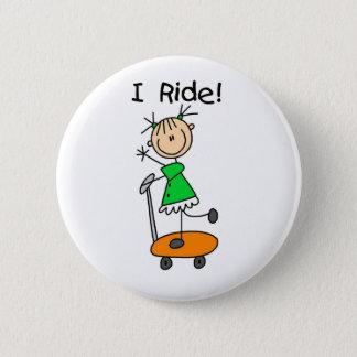 女の子Iの乗車ボタン 5.7CM 丸型バッジ