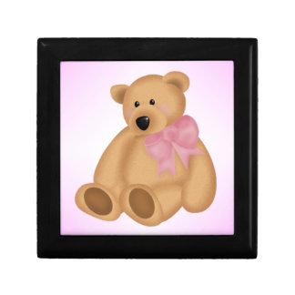 女の赤ちゃんのためのかわいいテディー・ベア、 ギフトボックス